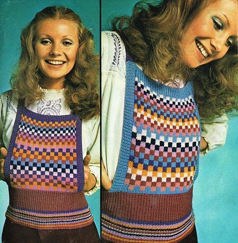 5921T ladies tank top vintage knitting pattern  PDF Download
