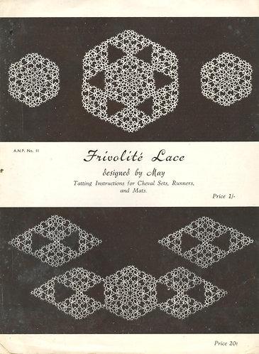 ANP11 viennese lace vintage tatting  pattern PDF