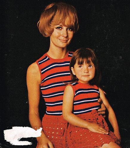 55T mother and daughter dresses vintage crochet pattern  PDF Download