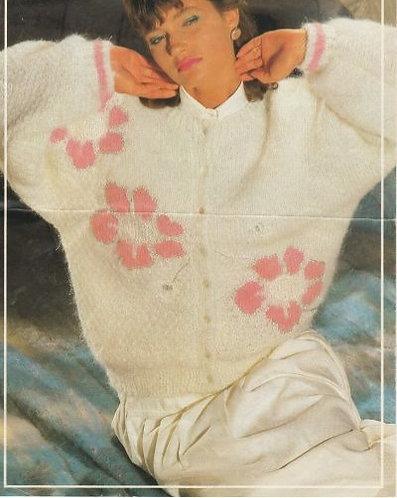 8640P ladies mohair cardigan Vintage knitting pattern  PDF Download