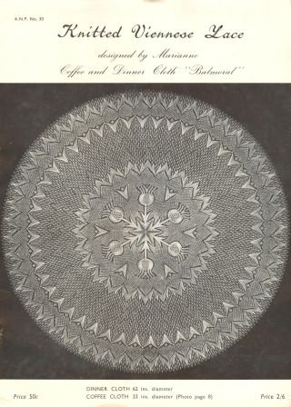 ANP30 viennese lace vintage knitting pattern PDF