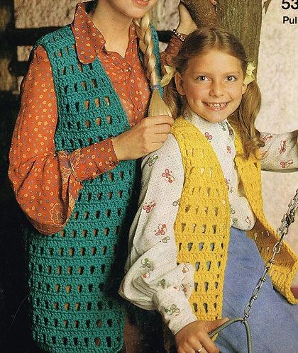 5339S ladies vintage crochet pattern PDF