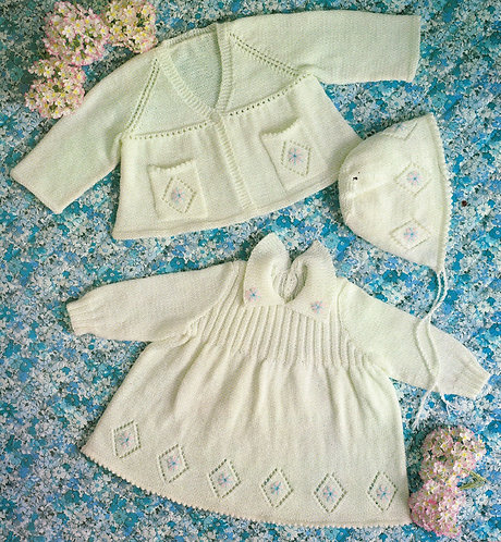 3085KC baby vintage knitting pattern PDF