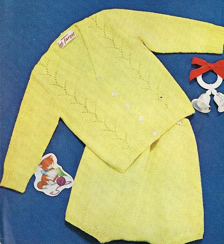 6665Lt baby vintage knitting pattern PDF