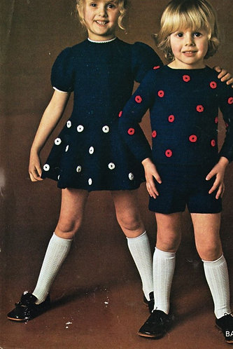 5177T girls dress vintage crochet pattern  PDF Download