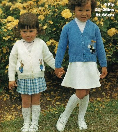 1678M girls cardigan vintage knitting pattern  PDF Download