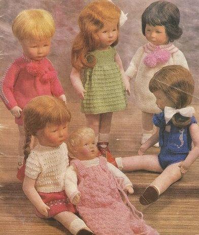 7015H dolls clothes vintage knitting pattern  PDF Download