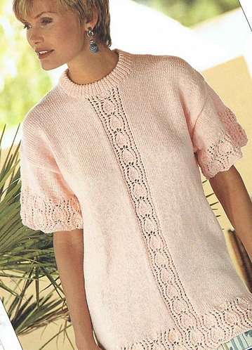 4580 ladies jumper Vintage knitting pattern  PDF Download