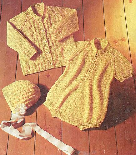 702Ar baby vintage knitting pattern  PDF