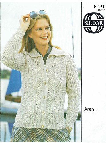 6021S ladies vintage knitting pattern PDF