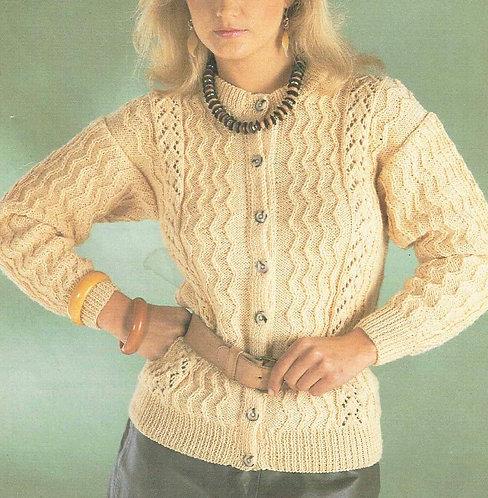 465Ar Ladies vintage knitting pattern PDF