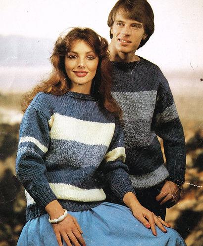 6626S ladies jumper vintage knitting pattern PDF