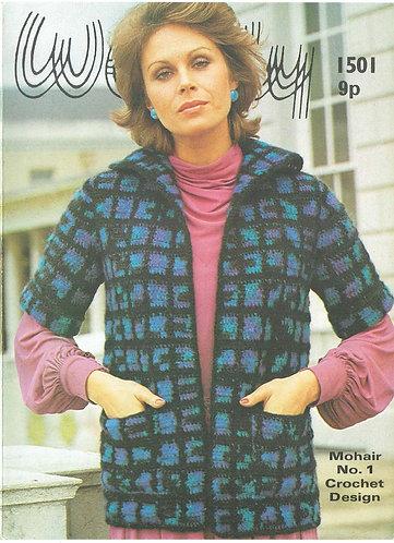 1501W ladies vintage crochet pattern PDF