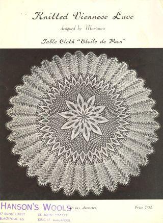 ANP1 viennese lace vintage knitting pattern PDF