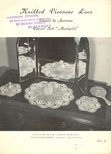 ANP5 viennese lace vintage knitting pattern PDF