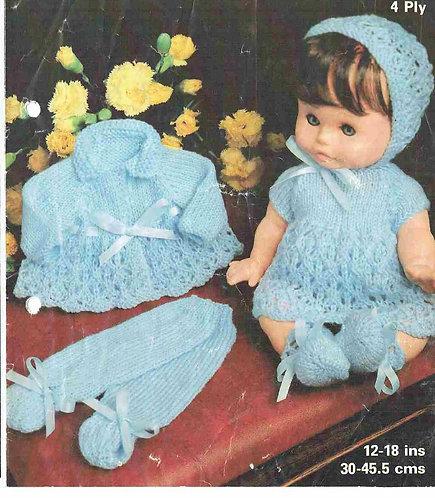 1961M dolls clothes vintage knitting pattern PDF Download