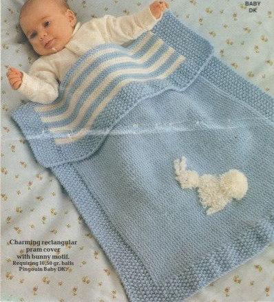 7920P baby blanket vintage knitting pattern  PDF Download