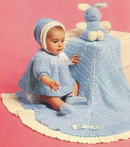 6292P baby vintage knitting pattern PDF