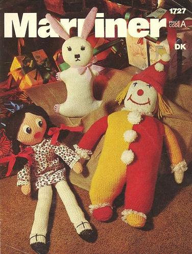 1727M toy  vintage knitting pattern PDF Download
