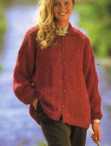 4527H ladies cardigan Vintage knitting pattern  PDF Download