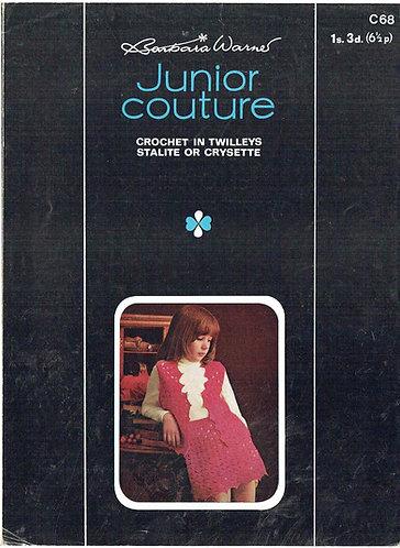 68T girls waistcoat skirt suit vintage crochet pattern  PDF Download