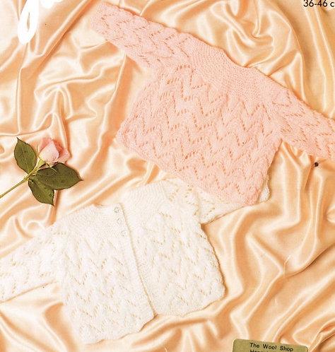 150J baby matinee coat vintage knitting pattern  PDF Download