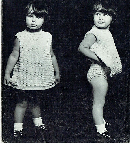 787T baby dress set vintage crochet pattern  PDF Download