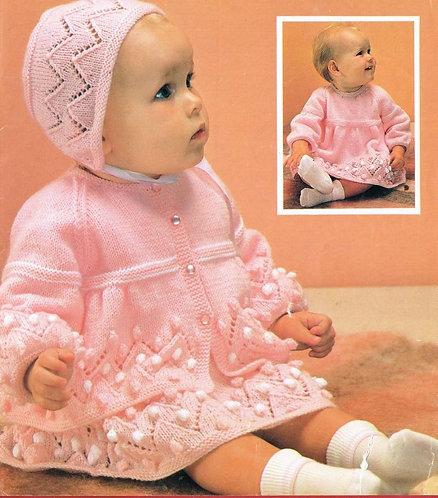 224Ar baby vintage knitting pattern PDF