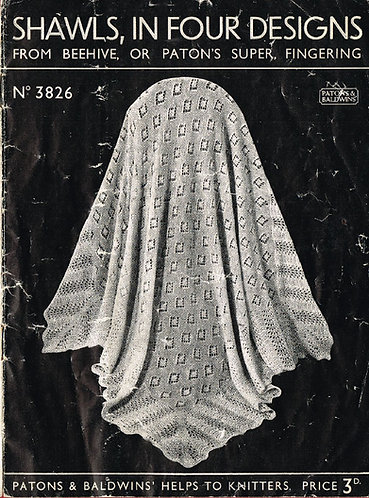3826 Four designs baby blanket knitting and crochet vintage pattern PDF Download