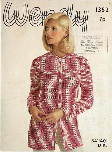 1352W vintage crochet pattern PDF