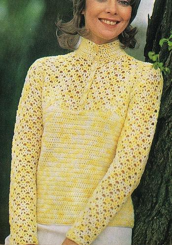 5174S Ladies vintage crochet pattern