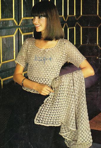 2518R Ladies vintage crochet pattern PDF