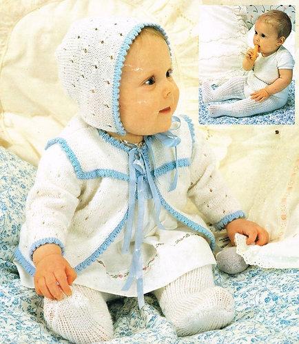 215Ar baby vintage knitting pattern PDF