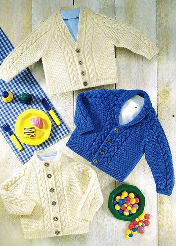 3027S baby vintage knitting pattern PDF