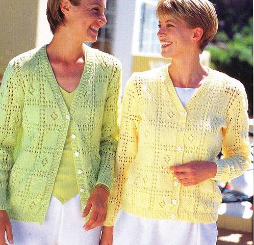 5816S Ladies vintage knitting pattern PDF