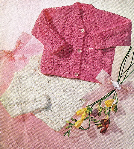 618L baby matinee coat vintage knitting pattern  PDF Download