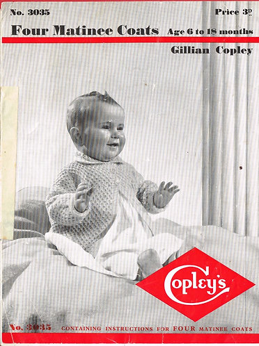 3035Co baby vintage knitting pattern PDF