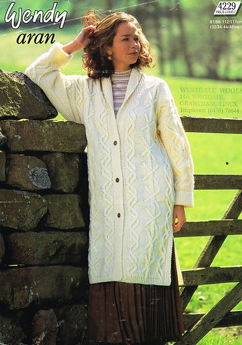 4229W Ladies vintage knitting pattern PDF