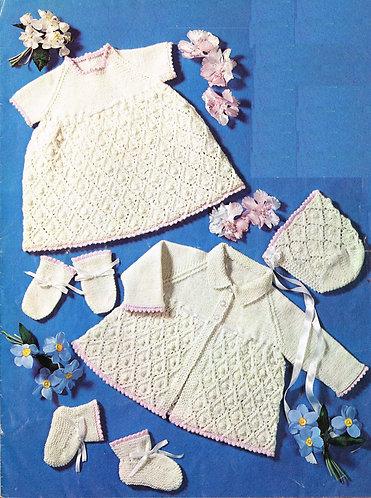 6452P baby vintage knitting pattern PDF