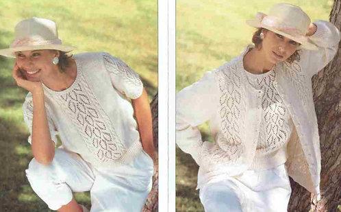 408H ladies twinset Vintage knitting pattern  PDF Download