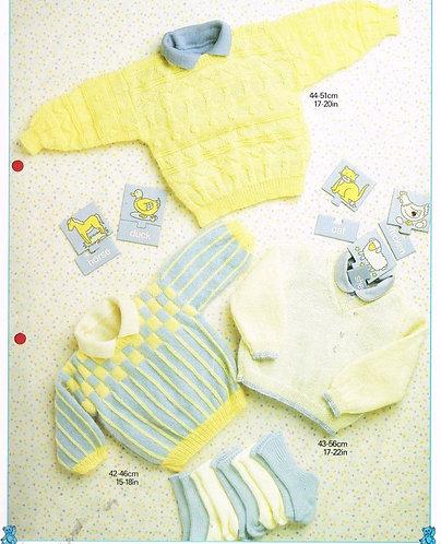 8723P baby jumper vintage knitting pattern  PDF Download