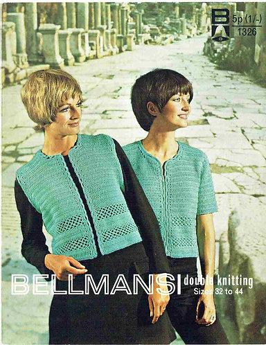 1326Bell ladies vintage crochet pattern PDF