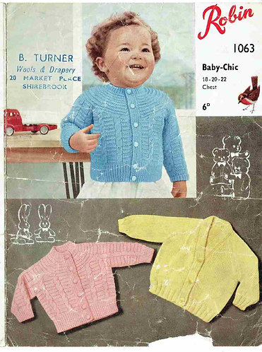 1063R baby cardigans vintage knitting pattern  PDF Download