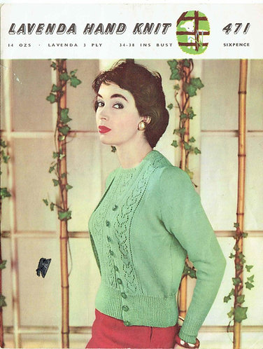 Lavenda 471 ladies twinset vintage knitting pattern  PDF Download