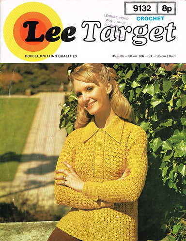 9132Lt ladies jumper vintage crochet pattern  PDF Download