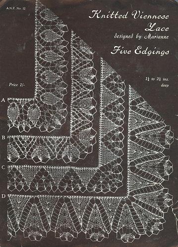 ANP12 viennese lace vintage kntiting patterns PDF