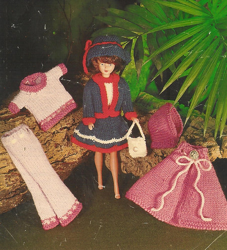 529L dolls clothes vintage knitting pattern  PDF Download