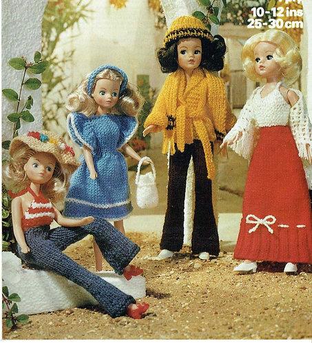 1665M dolls clothes vintage knitting pattern PDF Download