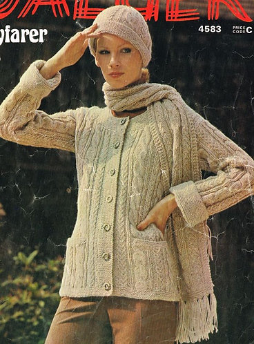 4583Ja Ladies vintage knitting pattern PDF