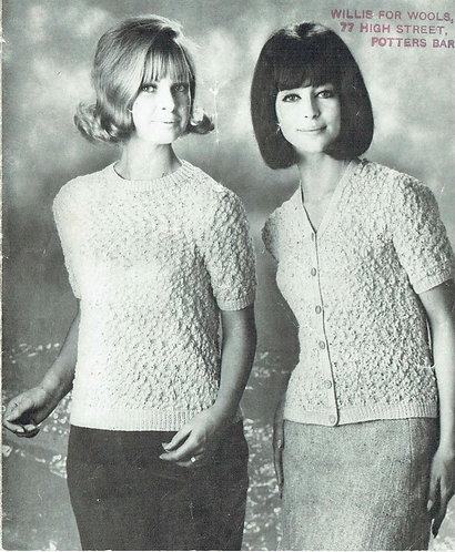 608T ladies summer top vintage crochet pattern  PDF Download
